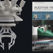 Oktober Ausgabe der x-technik, Additive Fertigung (02/2015) - Greifer: Design Stephan Henrich für VISIOTECH