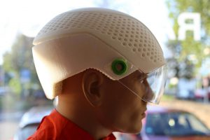Stereolithographie yp helmet Seitenansicht